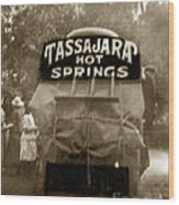 Tassajara Hot Springs Stage Monterey Co. California Circa 1910 Wood Print
