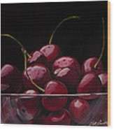 Tasty Cherries Wood Print
