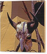 Tatanka Skull Wood Print