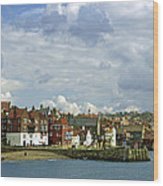 Tate Hill Pier And The Shambles - Whitby Wood Print