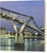 Tate Modern And Millennium Bridge Wood Print
