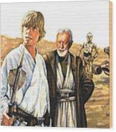 Tatooine Massacre Wood Print