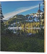 Tatoosh Peek Wood Print