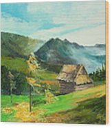 Tatry Mountains Wood Print