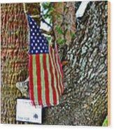 Tattered America Wood Print