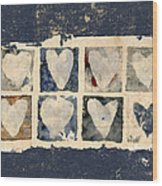 Tattered Hearts Wood Print by Carol Leigh