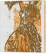 Tattered Parasol Wood Print