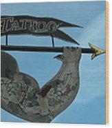 Tattoo Bob Wood Print