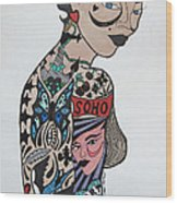 Tattoo Chic Original Wood Print