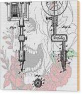 Tattoo Machine Patent Wood Print by Dan Sproul