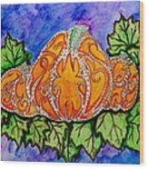 Tattoo Pumpkin Patch Wood Print