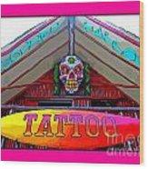 Tattoo Sign Digital Wood Print
