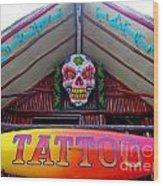 Tattoo Sign  Wood Print