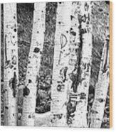 Tattoo Trees Wood Print
