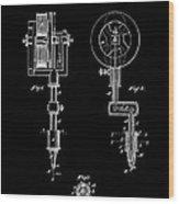Tattooing Machine 3 Patent Art 1891 Wood Print by Daniel Hagerman