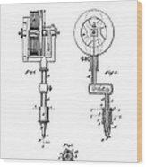 Tattooing Machine Patent Art  1891 Wood Print
