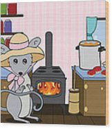 Tatty's Kitchen Wood Print by Christy Beckwith