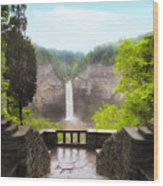 Taughannock Falls Wood Print by Jessica Jenney