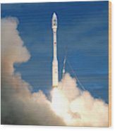 Taurus Rocket Launch Wood Print