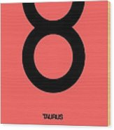Taurus Zodiac Sign Black  Wood Print