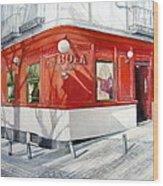 La Bola Tavern Wood Print
