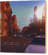 Taxi - Boston Wood Print