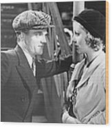 Taxi, From Left James Cagney, Loretta Wood Print