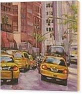Taxi Taxi Wood Print