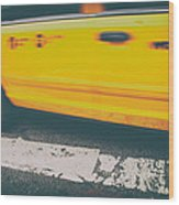 Taxi Taxi Wood Print by Karol Livote
