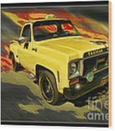 Taxicab Repair 1974 Gmc Wood Print