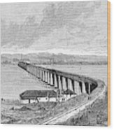 Tay Rail Bridge, 1879 Wood Print