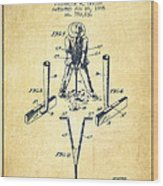 Taylor Golf Club Patent Drawing From 1905 - Vintage Wood Print