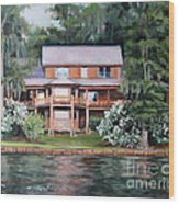 Taylor House Wood Print by Ellen Howell