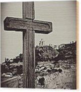 Tbilisi Cross Wood Print