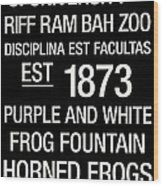 Tcu College Town Wall Art Wood Print by Replay Photos