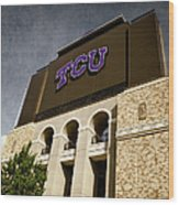 Tcu Stadium Entrance Wood Print