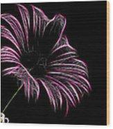 Tea And A Flower Wood Print