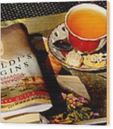 Tea And A Read Wood Print
