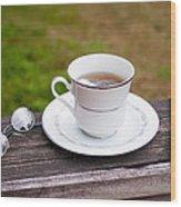 Tea And Art Wood Print