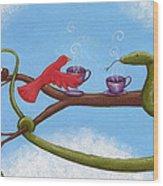 Tea And Eggs Wood Print