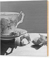 Tea And Roses Still Life Wood Print