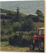Tea Break Tractor Wood Print