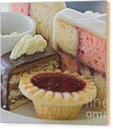 Tea Cakes Wood Print