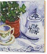 Tea For Nancy Wood Print