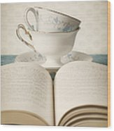 Tea For Two Wood Print by Amy Weiss