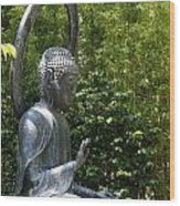 Tea Garden Buddha Wood Print