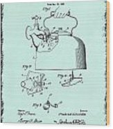 Tea Kettle Patent 1923 Wood Print