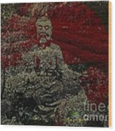 Tea Meditation Wood Print by Peter R Nicholls