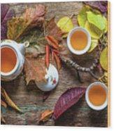 Tea Of September Wood Print