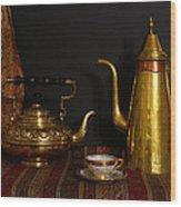 Tea Or Coffee Wood Print